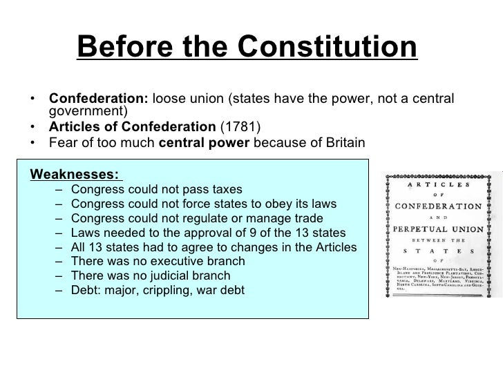 articles of the constitution and confederation The first system created was known as the articles of confederation and was adopted this federal constitution was called the articles of confederation and was.