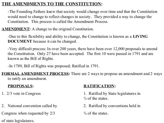 a constitutional amendment the only way