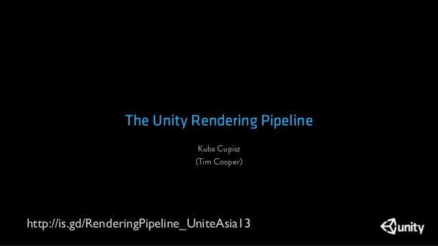 [UniteKorea2013] The Unity Rendering Pipeline