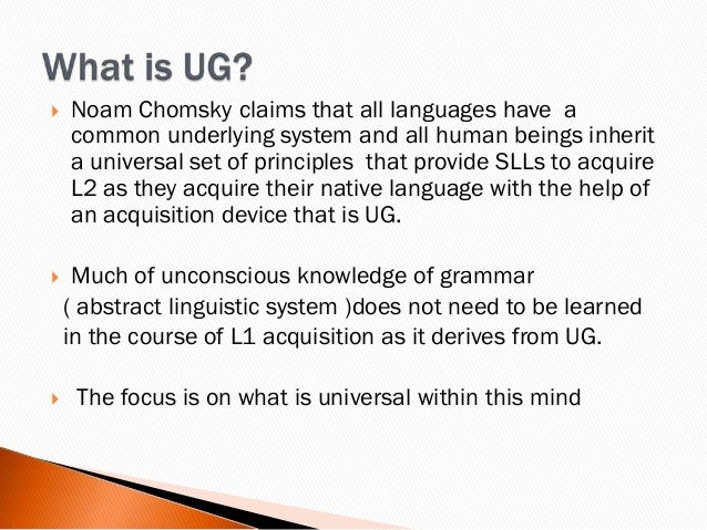 the two main theories on linguistic knowledge
