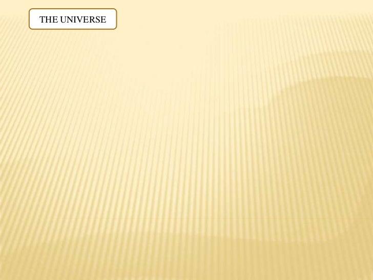 The universe. diagram. english