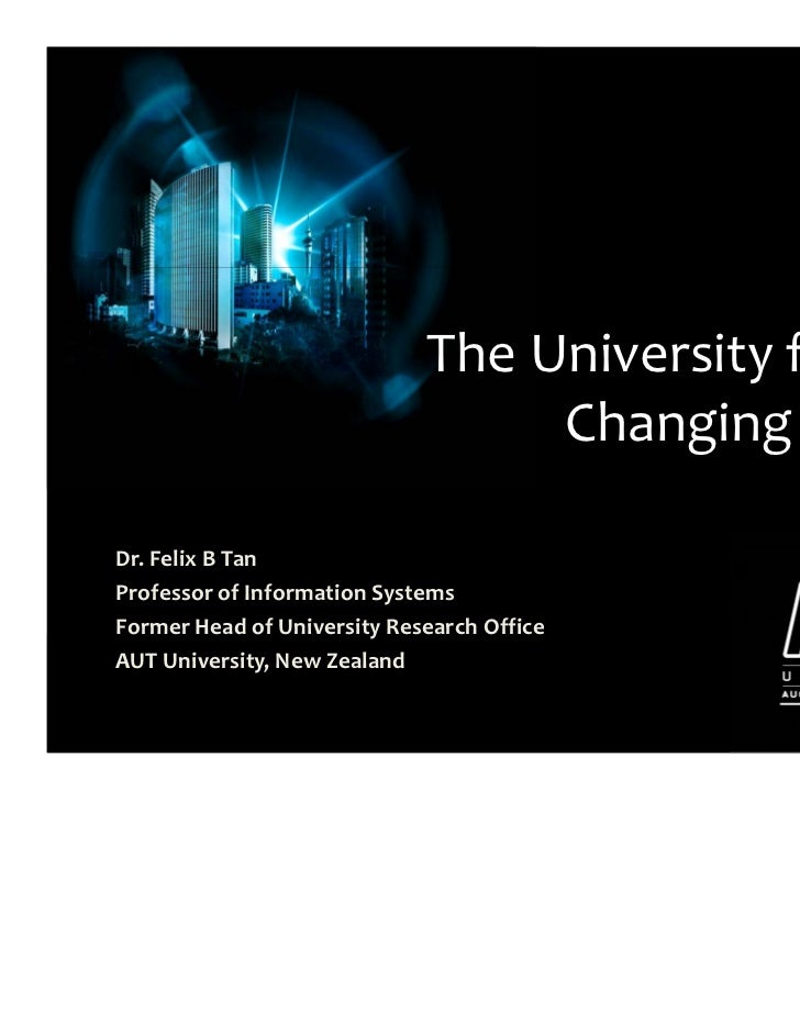 The university for the changing world felix tan
