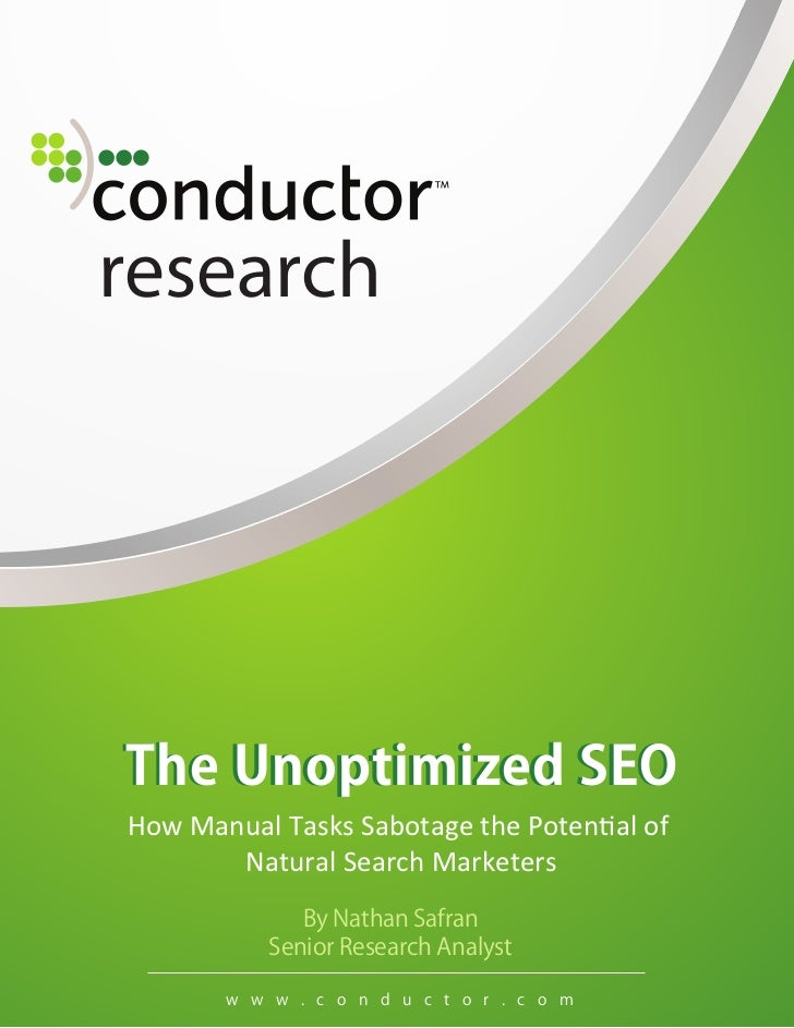 researchHow Manual Tasks Sabotage the Potential of       Natural Search Marketers