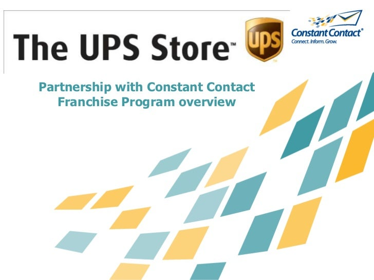 The UPS Store Presentation