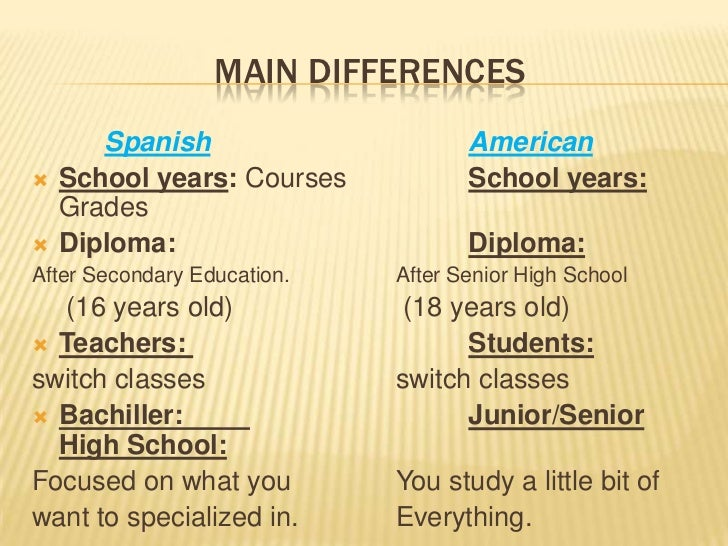 what difference between high school secondary senior india