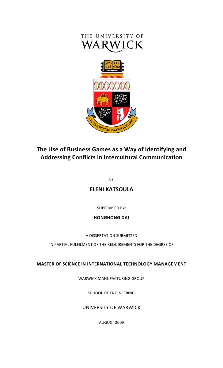 The Use of Business Games as a Way of Identifying and  Addressing Conflicts in Intercultural Communication                ...