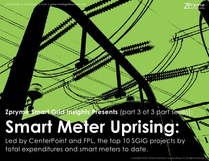 Learn more @ www.zpryme.com | www.smartgridresearch.orgZpryme Smart Grid Insights Presents (part 3 of 3 part series):Smart...