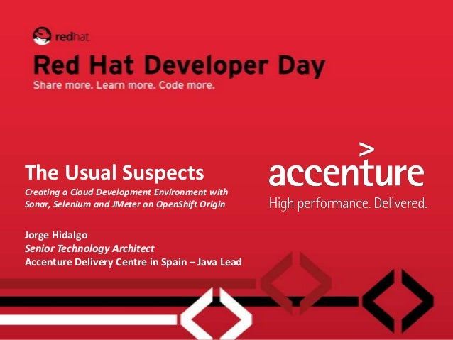 The Usual Suspects - Red Hat Developer Day 2012-11-01