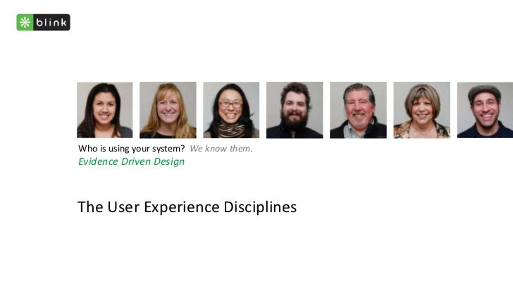 The UX Disciplines