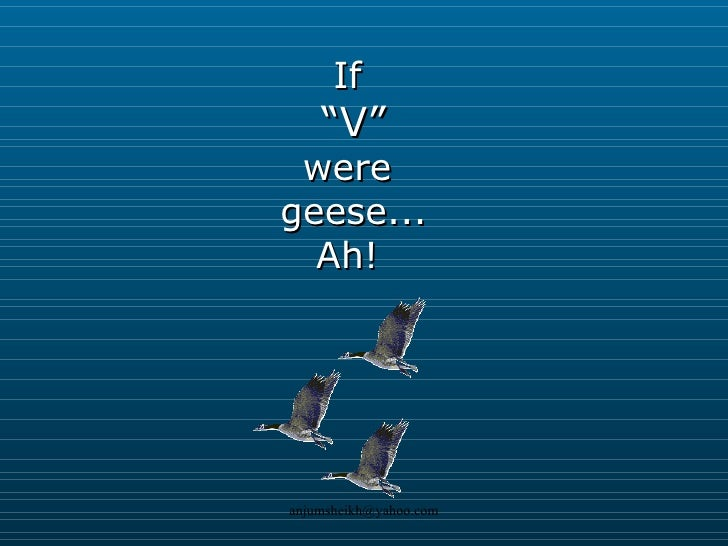 """If  """" V"""" were  geese... Ah!"""