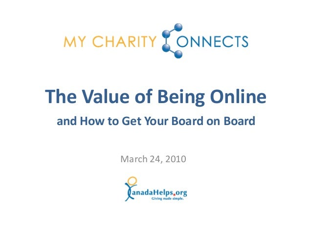 The Value Of Being Online And How To Get Your Board Onside