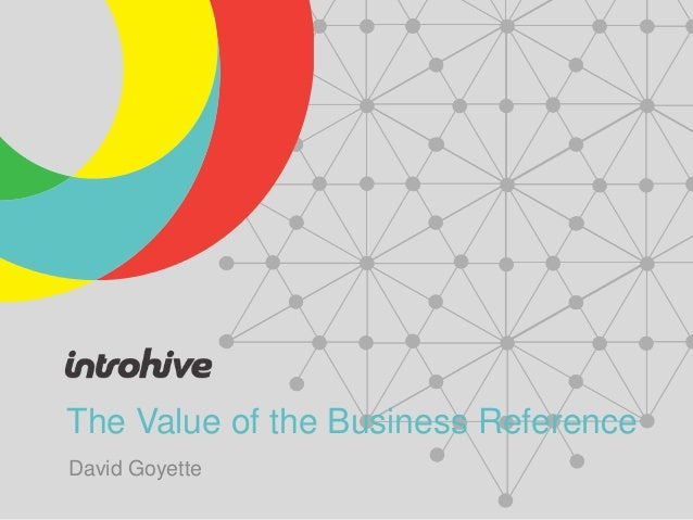 The Value of the Business ReferenceDavid Goyette