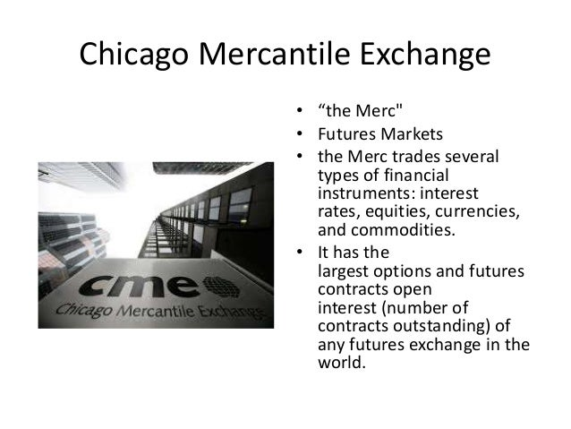 Chicago mercantile exchange binary options