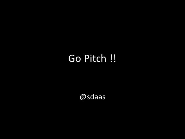 Pitching Your Idea to a VC