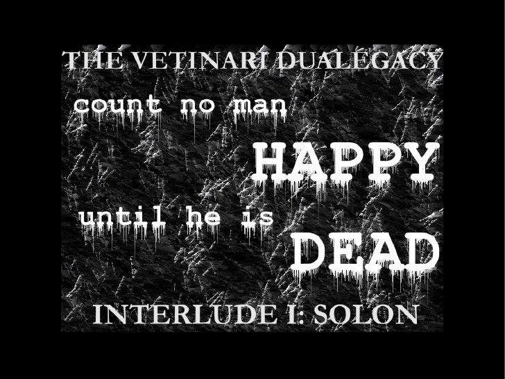 The Vetinari Dualegacy: Interlude 1