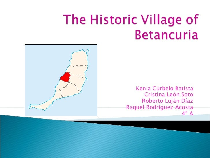 The village of Betancuria