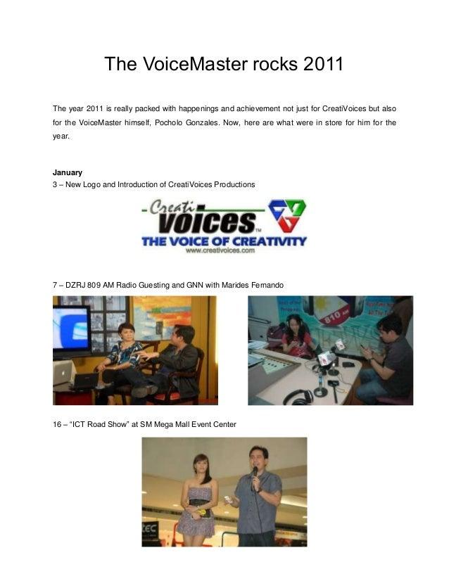 The voice master rocks 2011
