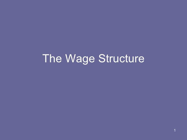 The Wage Structure