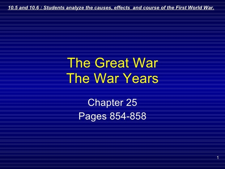 The Great War The War Years Chapter 25 Pages 854-858