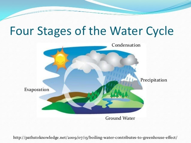 Water Cycle Stages The water cycle