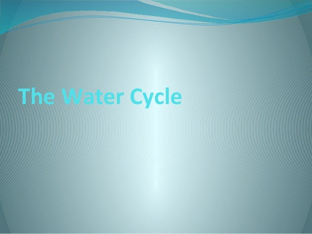 The water cycle copia