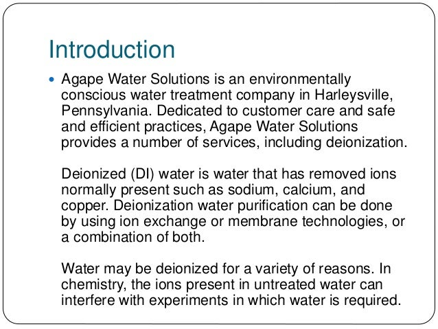 water deionization process