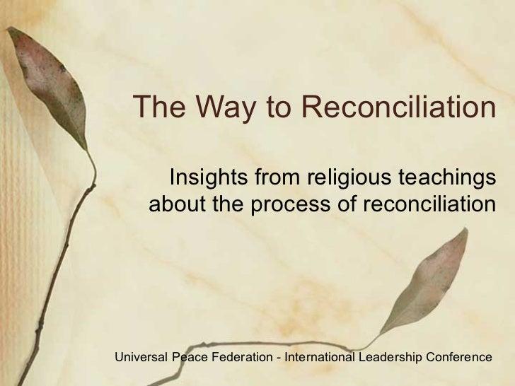 quotes about reconciliation quotesgram