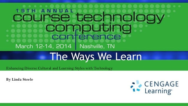The Ways We Learn Enhancing Diverse Cultural and Learning Styles with Technology By Linda Steele