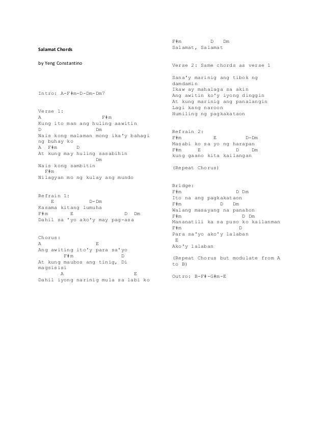 Guitar Chords Ikaw Music Sheets Chords Tablature And Song Lyrics