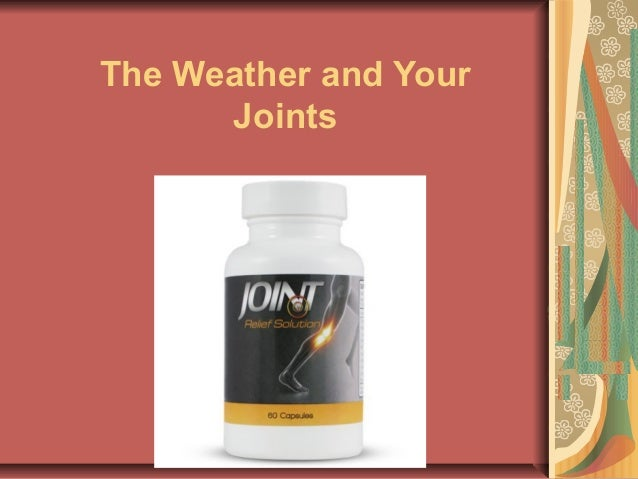 The weather and your joints