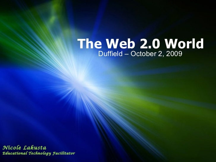 The web 2 world duffield oct 09