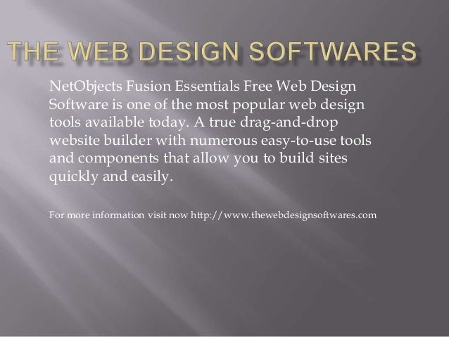 The web design softwares