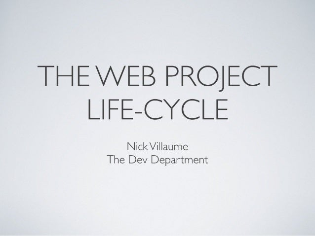 The Web Project Life Cycle