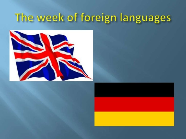 The week of foreign languages