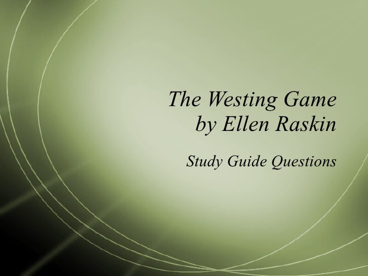 The Westing Game Essay Topics & Writing Assignments