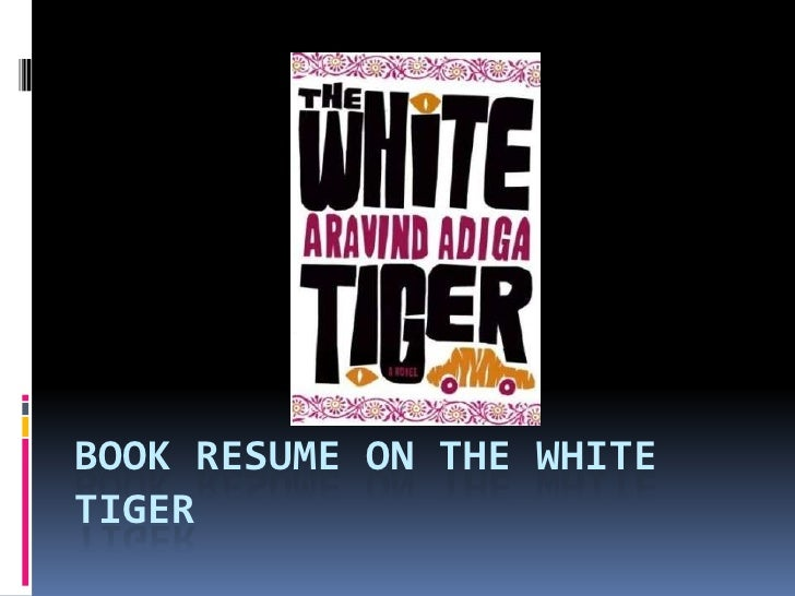 Book resume on the white tiger<br />