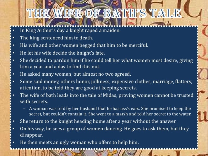 a character analysis of on the wife of bath The three rakes are morally corrupt characters the pardoner expresses to the reader the sins of gambling, gluttony, and breaking oaths.