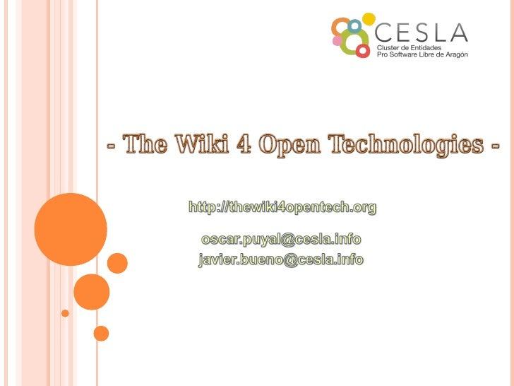 Thewiki4opentech