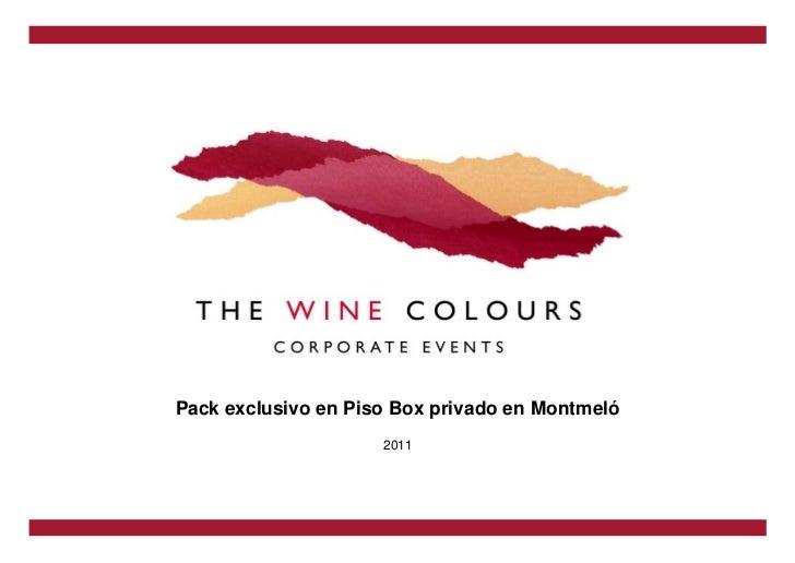 Pack exclusivo en Piso Box privado en Montmeló                     2011