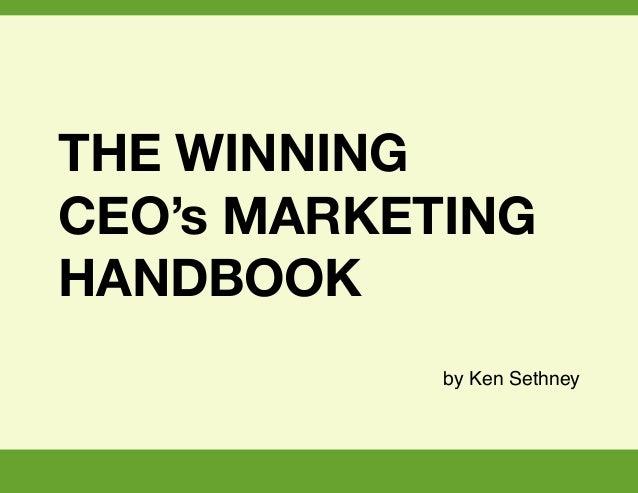 The Winning CEOs Marketing Handbook