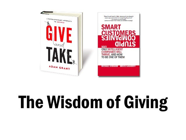 The Wisdom of Giving