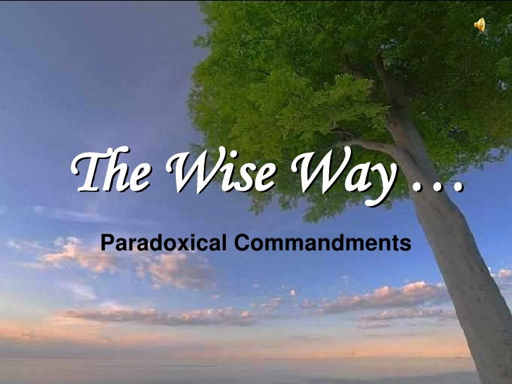 The wise way11