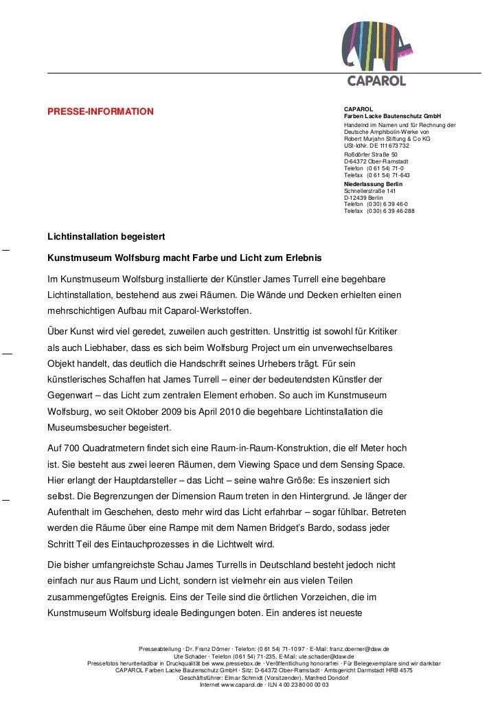 CAPAROLPRESSE-INFORMATION                                                                                        Farben La...