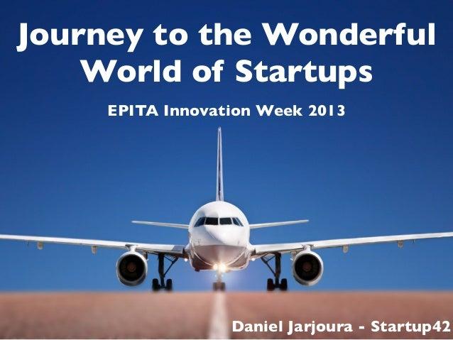 The wonderful world of startups - EPITA Innovation Week