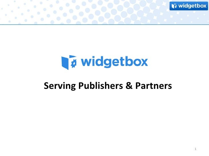 Serving Publishers & Partners