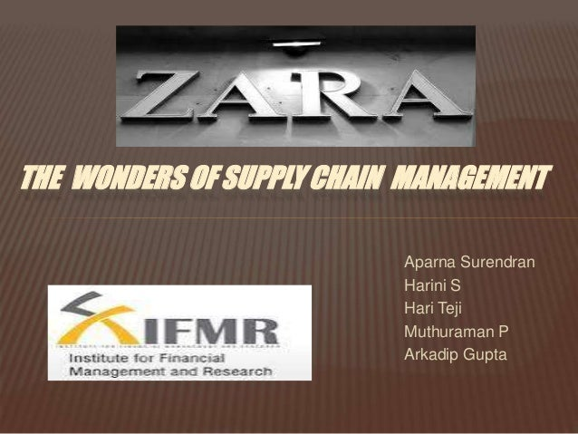 The  wonders of supply chain  management