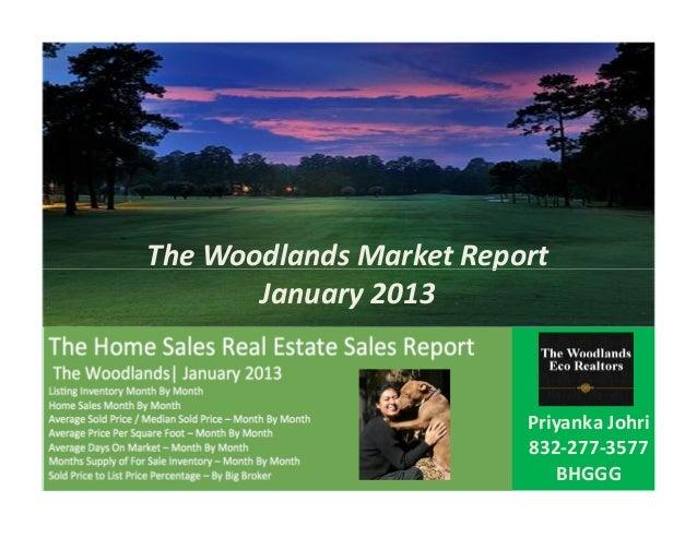 The woodlands market report jan 2013