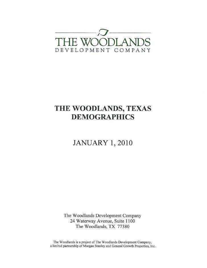 The Woodlands, Texas Demographics 2010
