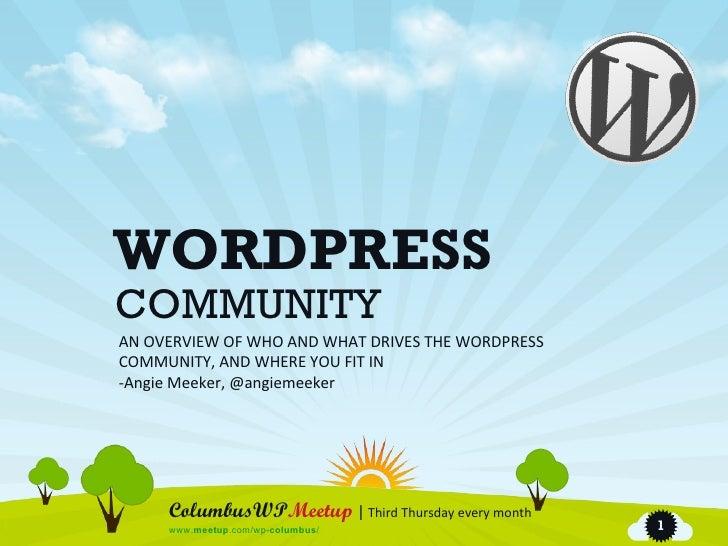 Columbus and the WordPress Community