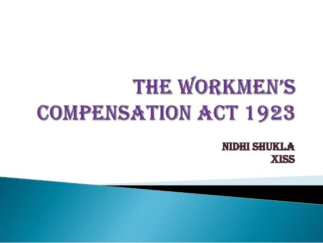 workmen compensation Welcome to the division of workers' compensation our goal is to ensure that anyone interested or involved in the florida workers' compensation system has the tools.